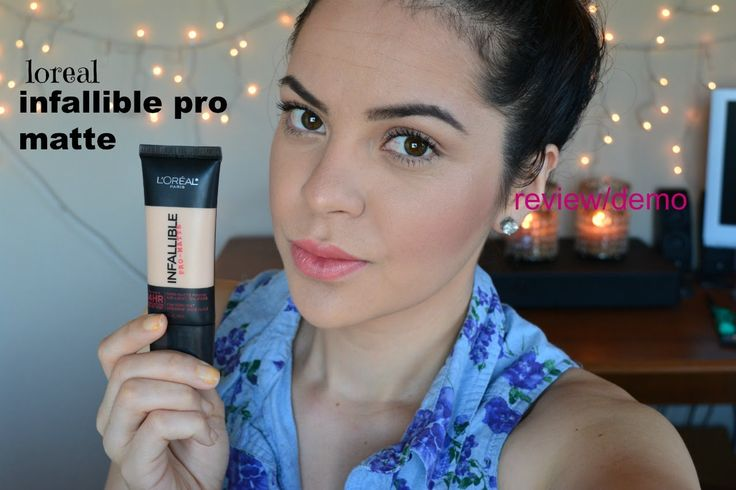 BASE loreal infallible pro-matte primera imprecion resena/demo (first im...