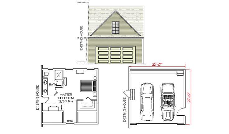14 best integral garage conversion images on pinterest - Garage converted to master bedroom ...