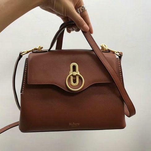 f4f41541c7ec Cheap 2018 Mulberry Mini Seaton Bag brown Silky Calf