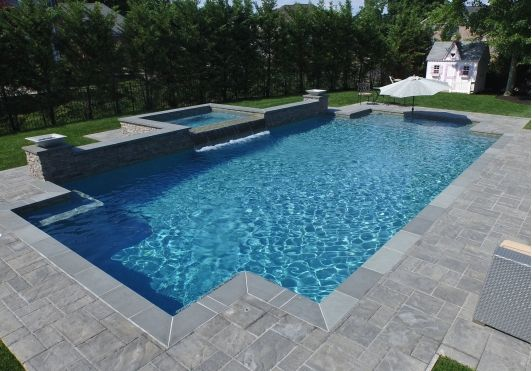 Rectangular In Ground Pool In 2019 In Ground Pools