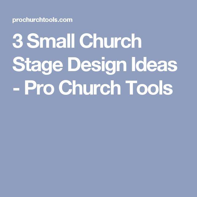 3 Small Church Stage Design Ideas - Pro Church Tools
