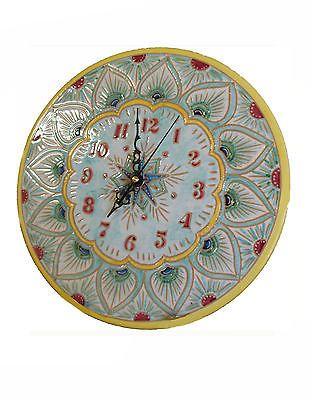 Orologio da Parete in Ceramica Maioliche Artistiche Dipinto a Mano, Idea Regalo