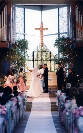 pretty church wedding - big window