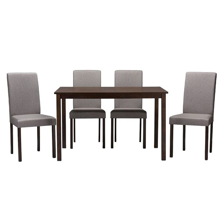 Andrew Contemporary Dining Chairs - Gray (Set Of 4) - Baxton Studio