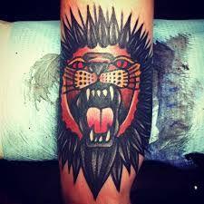 Traditional Lion Tattoo