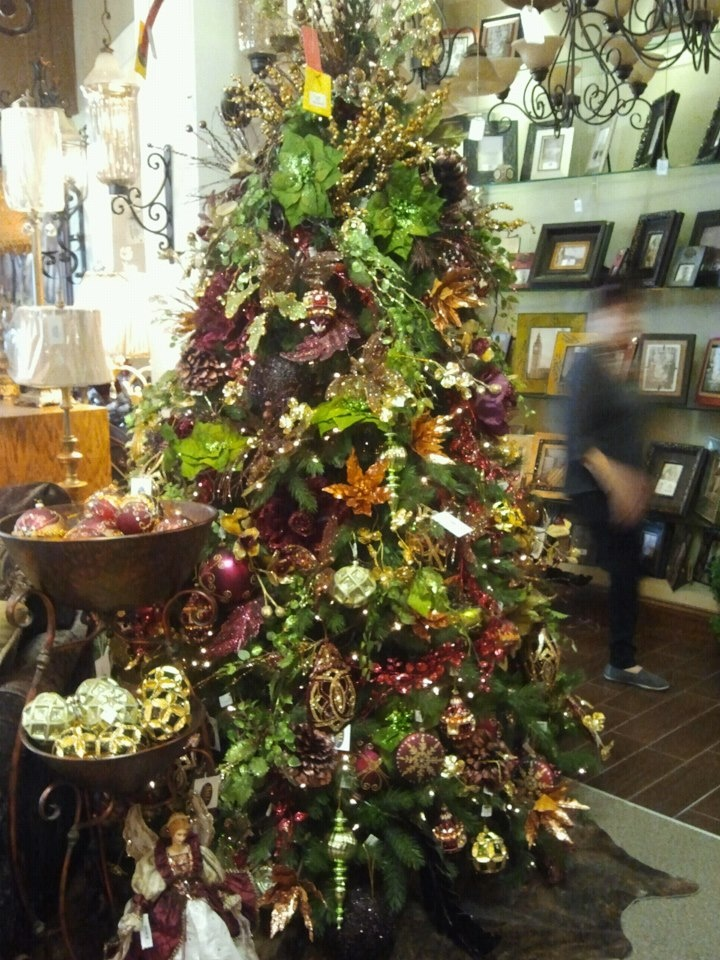 Green and jewel tones Christmas tree at Hall Lighting in Victoria  TX335 best Working Christmas Trees   trees in publicspaces images on  . Hall Lighting Victoria Texas. Home Design Ideas