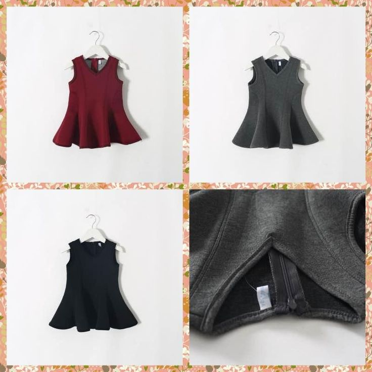 2015 New Arrival Fashion Girls Slim Ruffles Tutu Party Dresses Sleeveless V Neck Asymmetric Dresses Gray Red Blue Color Fall Winter Dress Online with $12.85/Piece on Smartmart's Store   DHgate.com