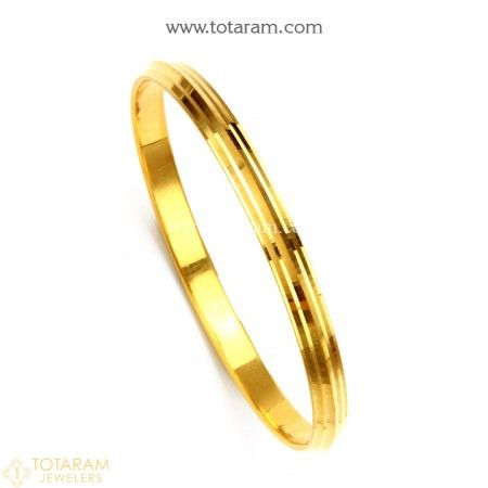 22K Gold Sikh Kada - Sikh Kara - Mens Gold Bangle - 235-M-GBL004 - Buy this Latest Indian Gold Jewelry Design in 49.950 Grams for a low price of  $2,737.79