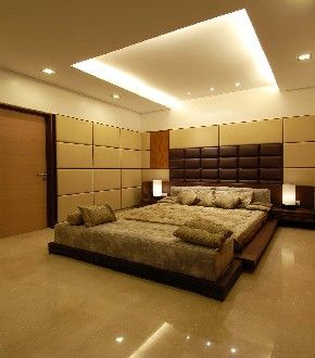 indirect lighting... this lighting system has lights in the tray ceiling and allows the ceiling to glow instead of spotlighting on one particular area, dispersing the light throughout the room.