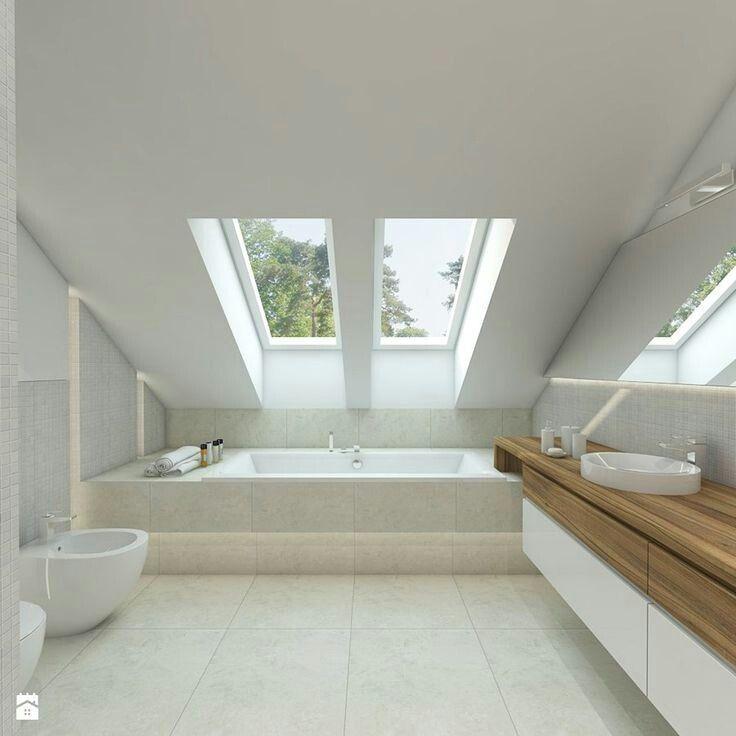 Bathroom Ideas Bathroom Dachfenster Ideas Badkamerinspiratie Badezimmer Dachschrage Badezimmer Dachgeschoss Badezimmer