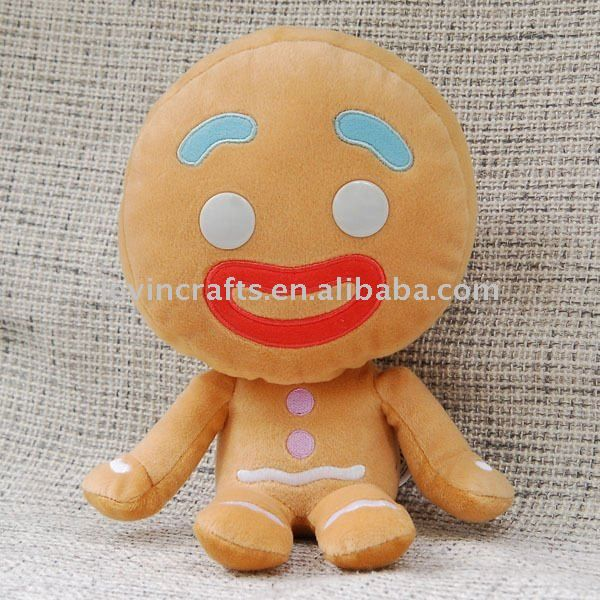 shrek de la felpa muñeca rellena gingy de hombre de jengibre de juguete - spanish.alibaba.com