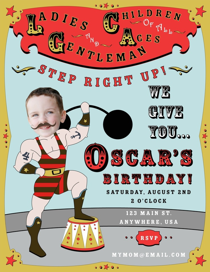 29 best circus cookies images on pinterest | circus cookies, Birthday invitations