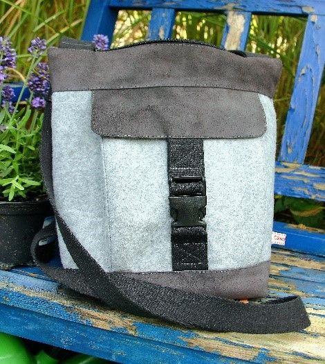Schultertaschen - Handtasche, Filz und Echtleder - ein Designerstück von CamberlinArt bei DaWanda