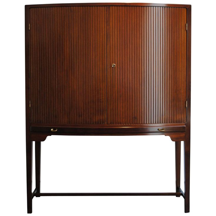 rare curved highboy cabinet by ole wanscher for illums bolighus denmark 1940s