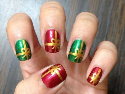 Best 25 christmas present nail art ideas on pinterest christmas christmas presents nail art designs ideas 2017 prinsesfo Gallery