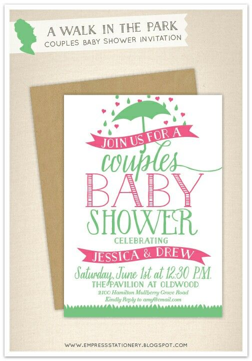 couples baby shower invitations girl couples baby