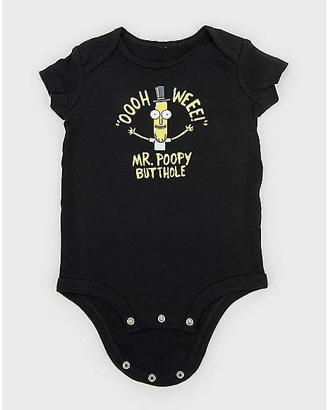 848c39ef1 Mr. Poopybutthole Baby Bodysuit - Rick and Morty - Spencer's | Baby ...