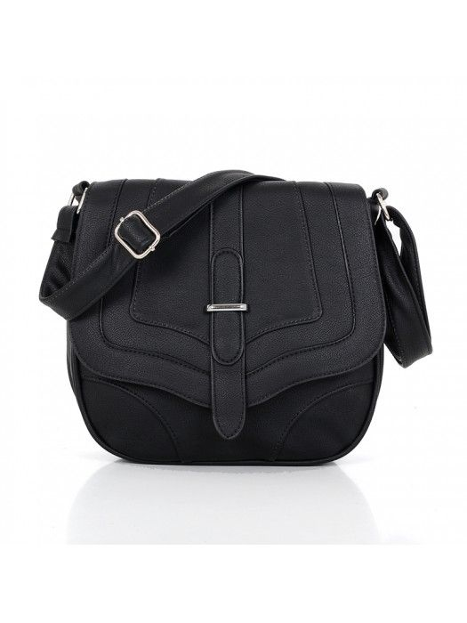 LADIES #FASHION BLACK LEATHER #CROSSBODY #BAG #PrettyStyle