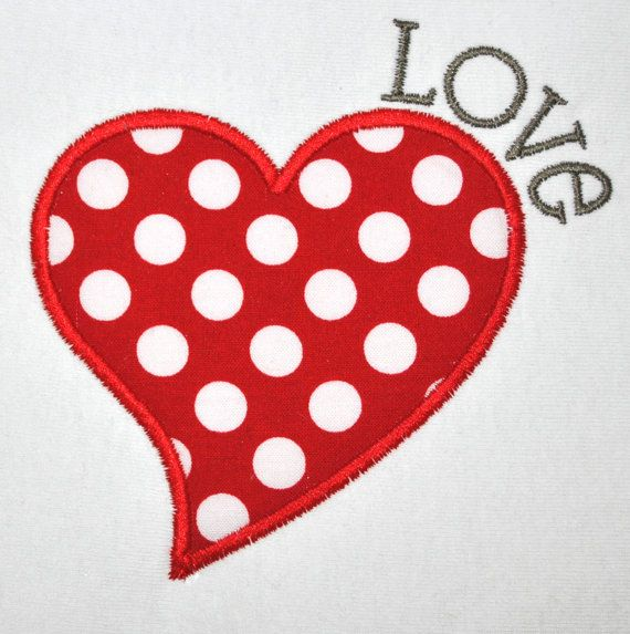 INSTANT DOWNLOAD - Embroidery Machine Applique Design - Happy Valentine's Day - 3 Sizes - Heart Applique Design - Love Embroidery