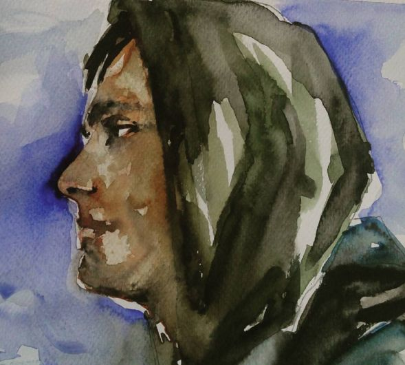 #portrait #watercolor