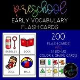 PRESCHOOL: 200 Early Vocabulary Flash Cards + BONUS
