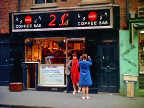 21's Coffee Bar in Soho, London, 1959. In the 1950s, continental style coffee bars became the favoured haunt of teenagers.