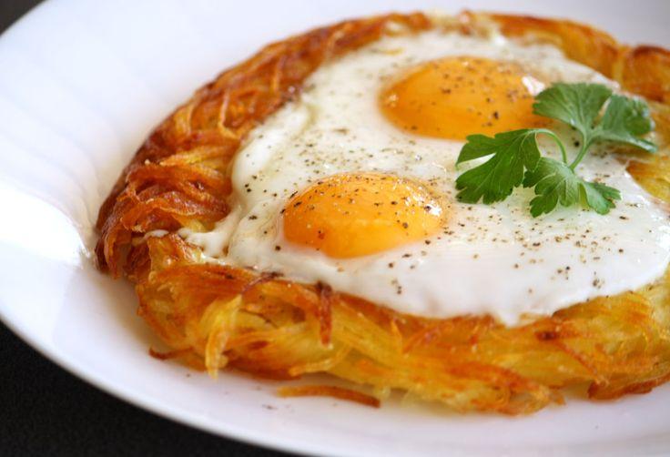 Φωλιά πατάτας με αυγά μάτια! #Φωλιές #πατάτες #eggs #nest #potato #egg