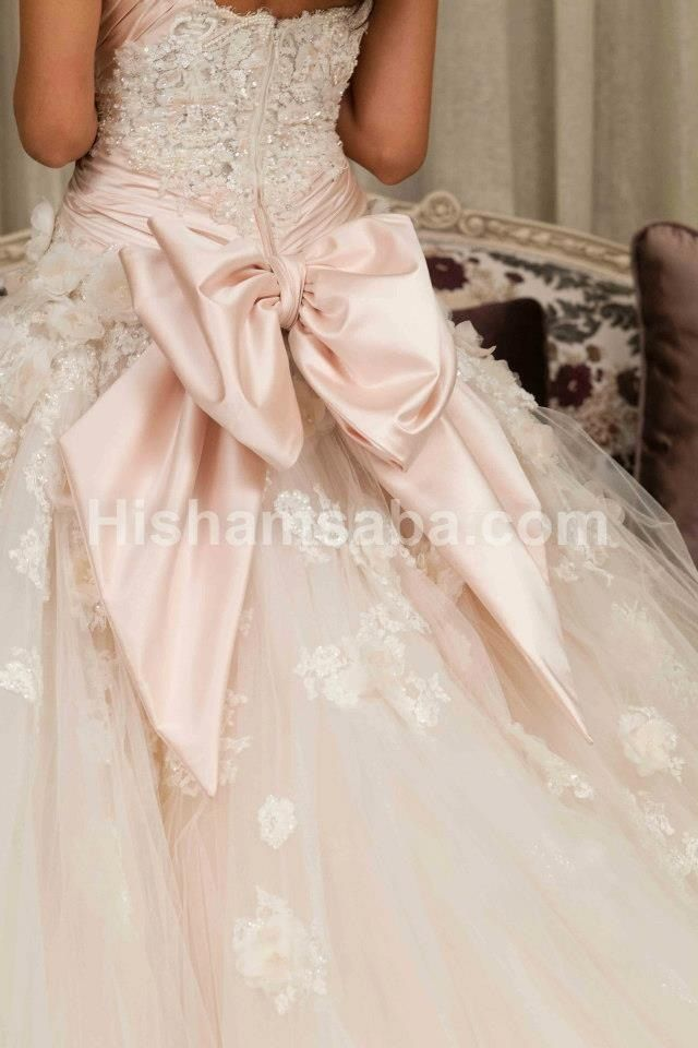 Bow Wedding Gown Baxk A Pale Pale Pink Wedding Dress Would Be Amazing