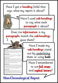 Pay for writing non chronological reports ks2