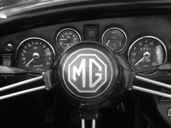 MG Midget Dashboard- my dad had an MG!