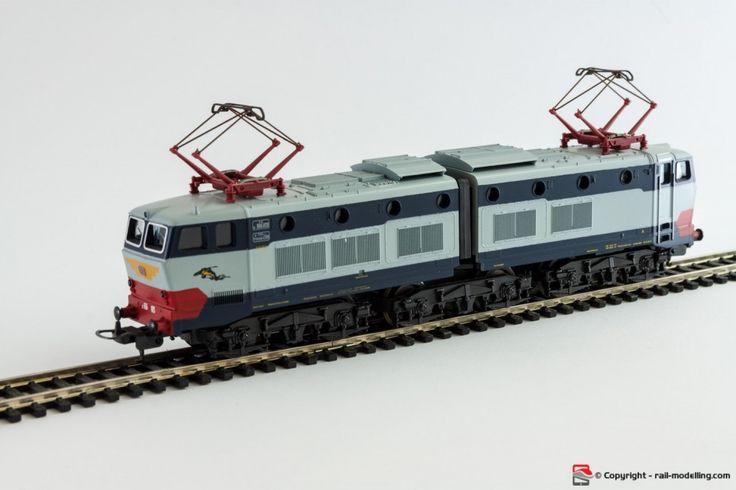 LIMA 208064L - H0 1:87 - Locomotore elettrico FS E656 023 Caimano in livrea blu grigia con confezione