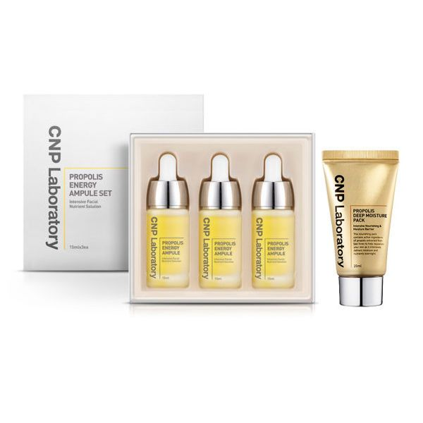 KOREAN CNP Laboratory PROPOLIS ENERGY AMPULE SET & PROPOLIS Sleeping Pack #KOREACNP