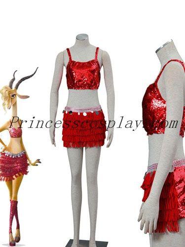 Movie Singer Shakira Gazelle Party Costume Cosplay Sexy Skirt Halloween