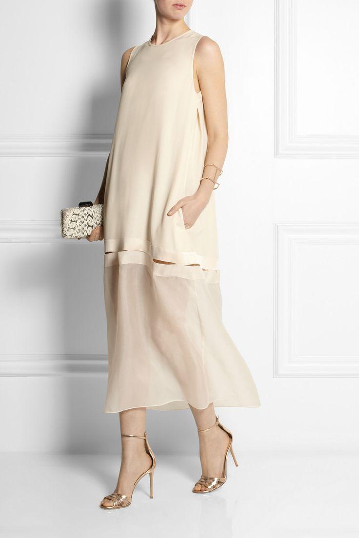 Stella McCartney|Jordan crepe and silk-organza dress|NET-A-PORTER.COM