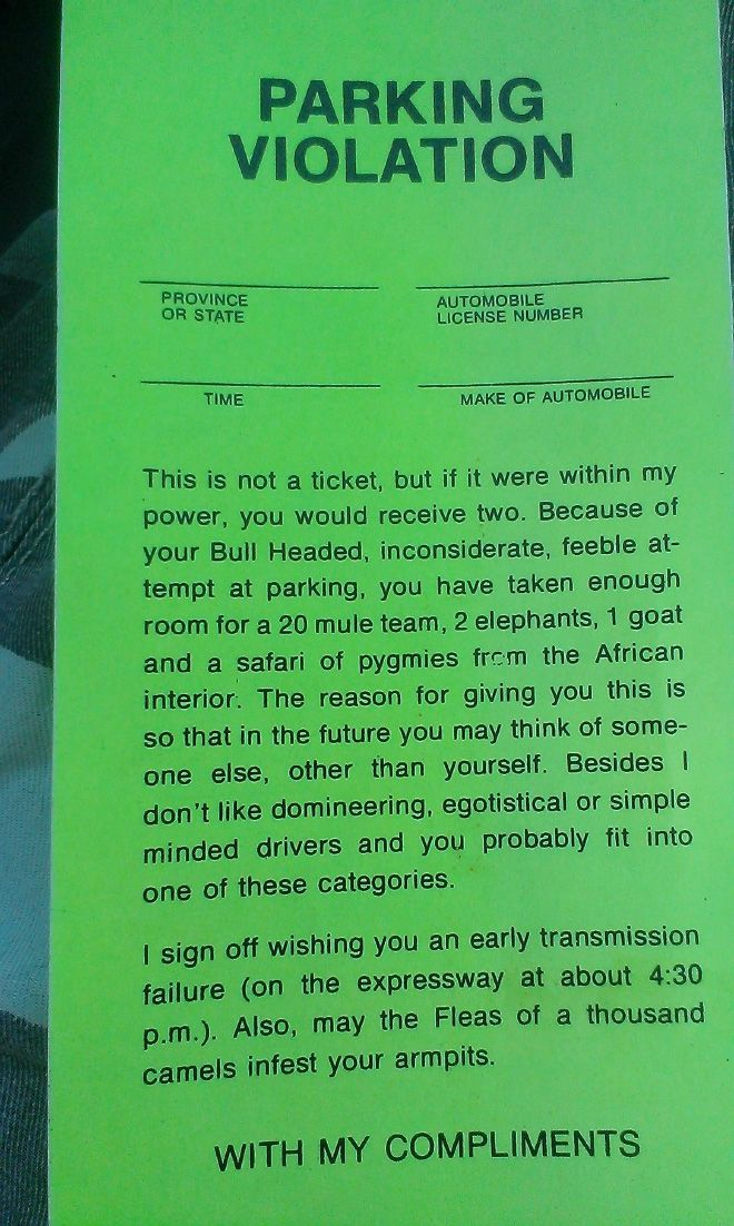 The Best Parking Notes Ideas On Pinterest Thousand Oaks Mall - 29 hilarious passive aggressive notes to bad parkers 4 killed me