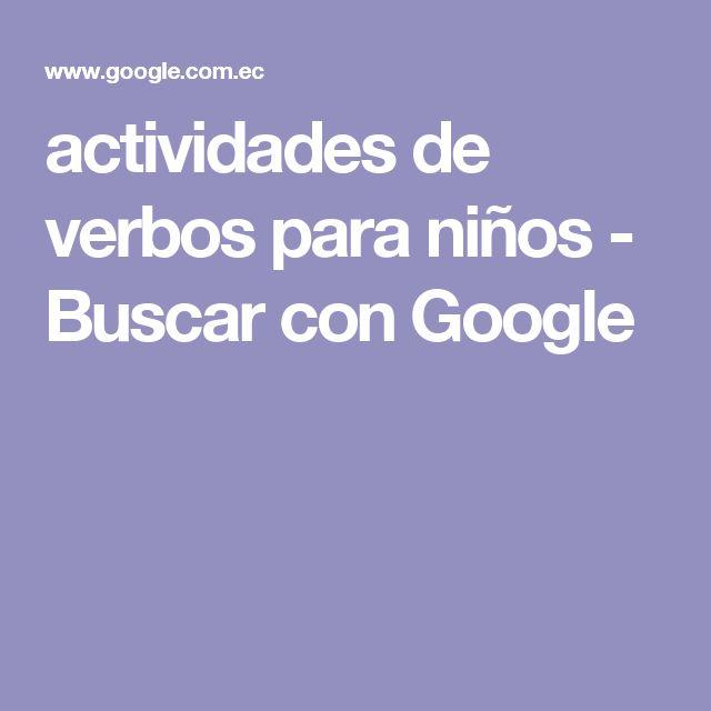 actividades de verbos para niños - Buscar con Google