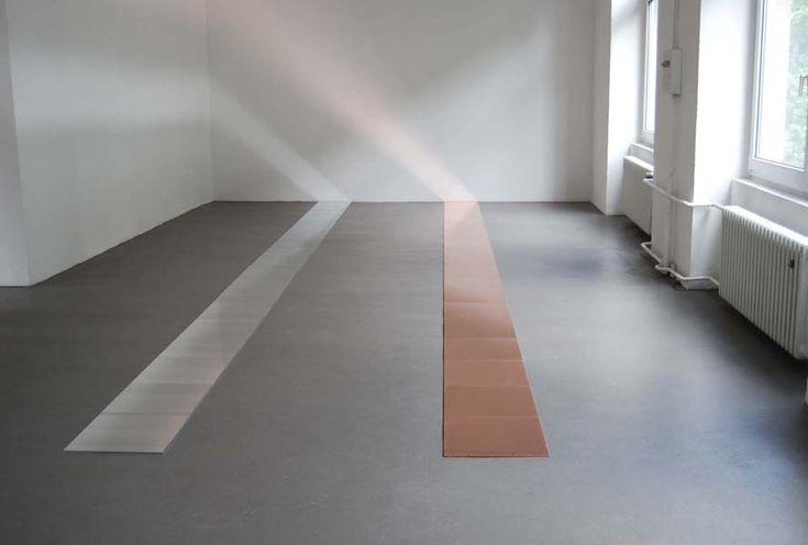 19 Aluminum Line + 19 Copper Line .  installation . Carl Andre