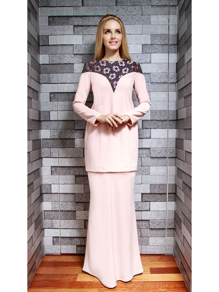 Modern Kurung with Lace Shoulder Panel