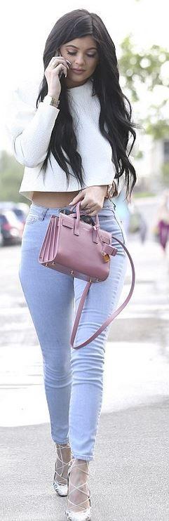 Kylie Jenner: Bracelet – Cartier  Purse – Saint Laurent  Watch – Audemars Pigue  Shoes – Christian Louboutin