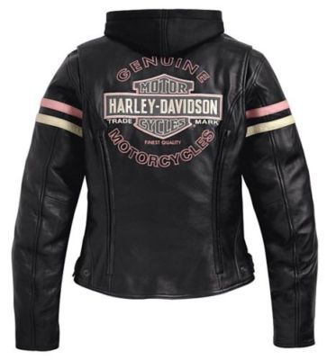 Harley Davidson PINK ENTHUSIAST Leather Coat Jacket