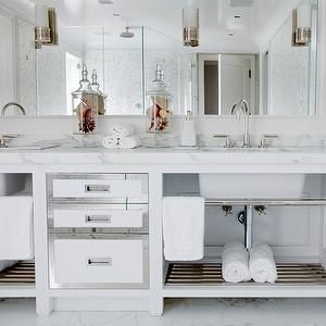 White Mirrored Double Vanity, Transitional, bathroom, Vicente Burin Architects
