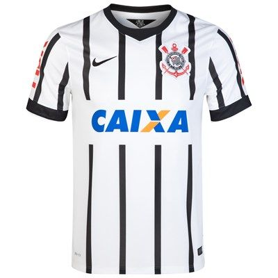 Corinthians 2014/2015 Home Shirt (White/black). Available from Kitbag.com