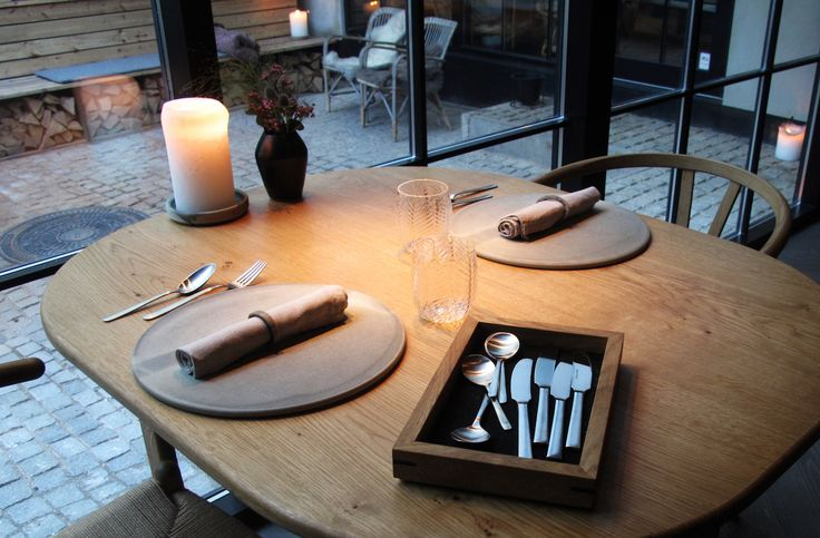 Kay Bojesen Grand Prix cultery at the Michelin restaurant Kadeau in Copenhagen.  Kay Bojesen Grand Prix cutlery. Danish Design.