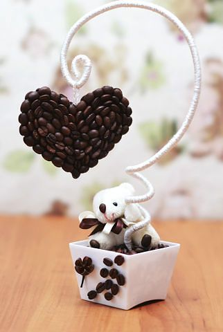 Topiary With Coffee Bean Heart