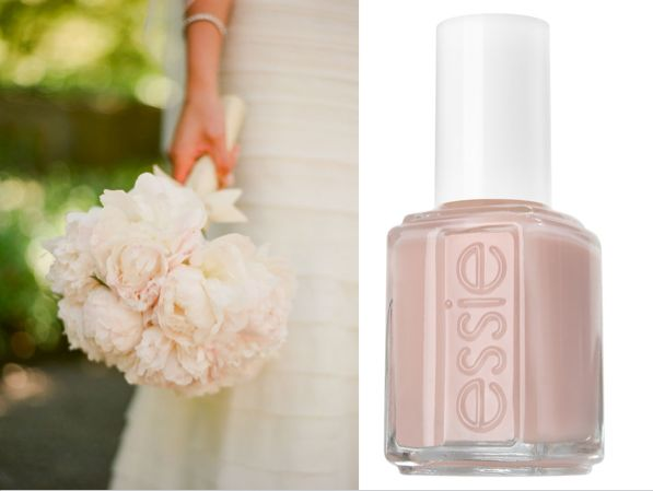 Essie Ballet Slippers and Pink Peonies Bouquet