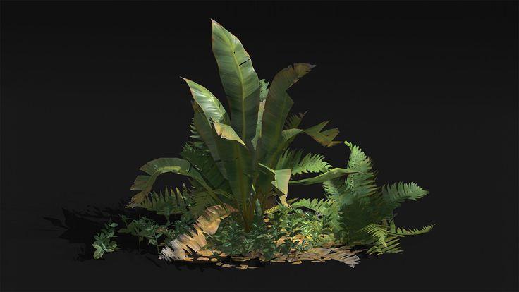 Foliage study, Vitaly Bobrov on ArtStation at https://www.artstation.com/artwork/238Da