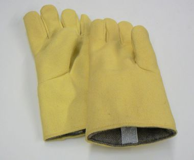 "HEAT RESISTANT KEVLAR GLOVE 14"" RIGHT HAND SMELT WOOL INSULATED"
