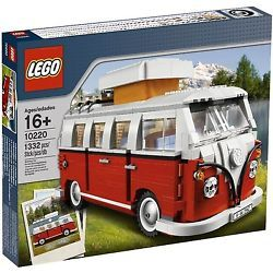 Original VW Lego Bulli T1 Rot / Weiß CamPingbus Van Volkswagen Lego Creator Neu