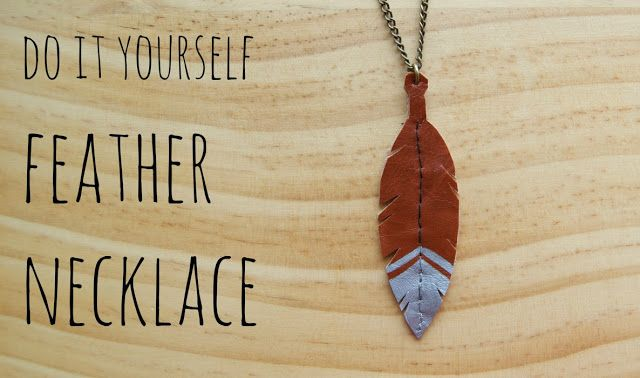 Do It Yourself Jewelry: Do-it-yourself Feather Necklace