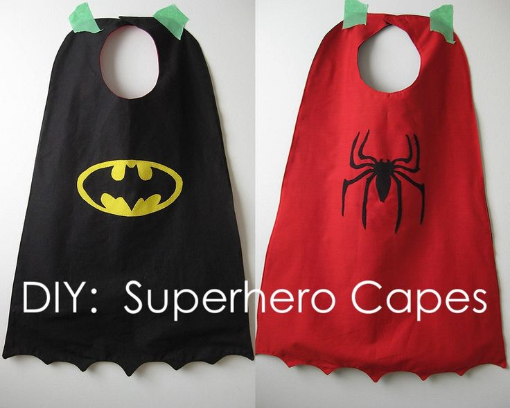 DIY superhero coffee cans | DIY Superhero Cape